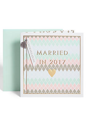 Married in 2017 Wedding Card