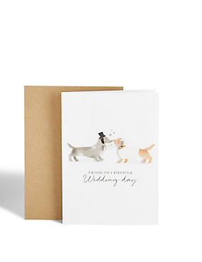 Sausage Dog Wedding Card