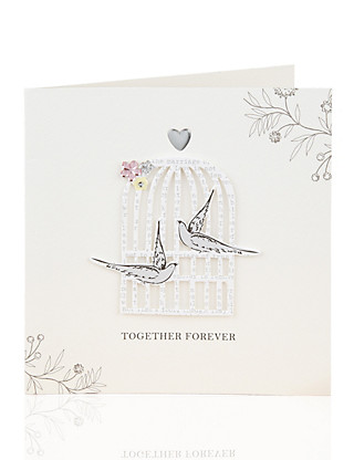 Bird Cage Wedding Card Home