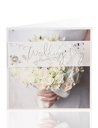 Photo Wedding Bouquet Card Home