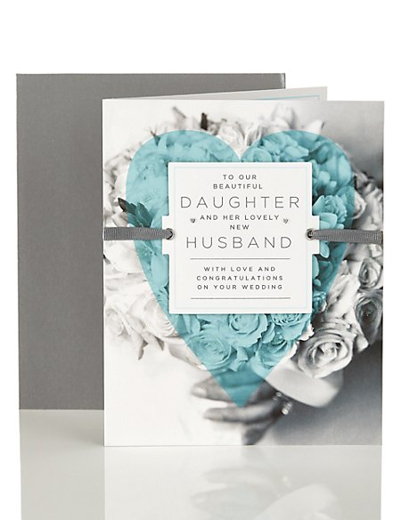 Daughter Wedding Day Congratulations Card