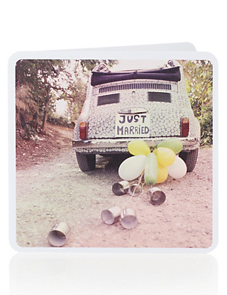 Just Married Card Home