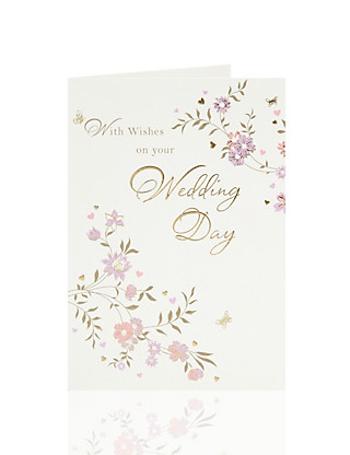 Flowers Wedding Day Card Home