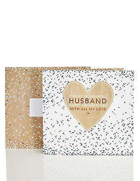 Husband Copper Heart Anniversary Card