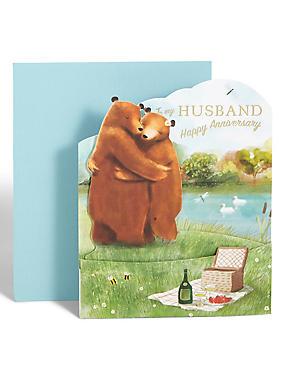 Husband Anniversary Bears Card