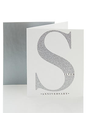 Open Recipient Silver Wedding Anniversary Card