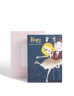 Dotty Daisy Anniversary Card