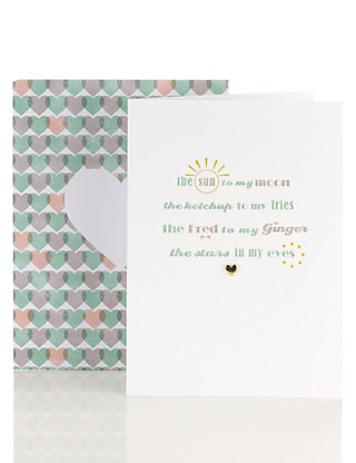 Contemporary Sun to my Moon Anniversary Card Home