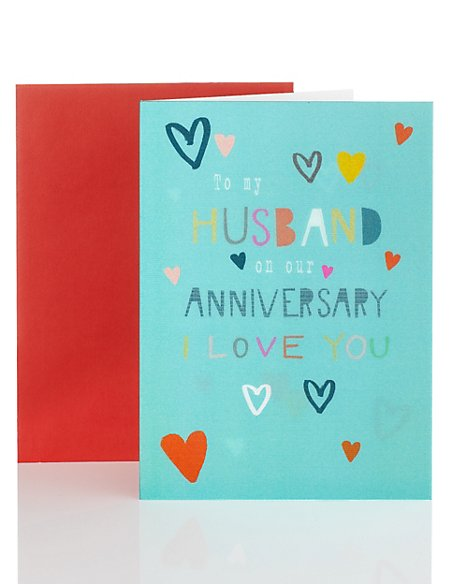 Holographic Husband Anniversary Card