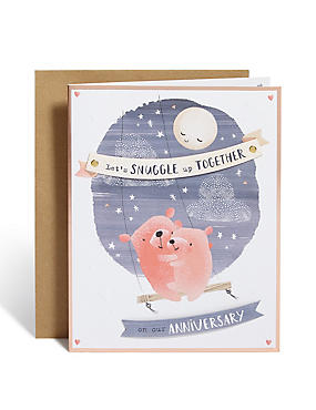 Snuggle Bears Anniversary Card