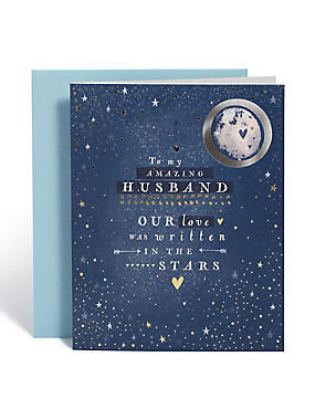 Anniversary Husband Moon Star Card
