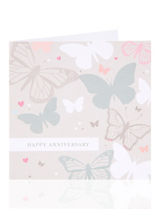 Butterfly Happy Anniversary Greeting Card Home