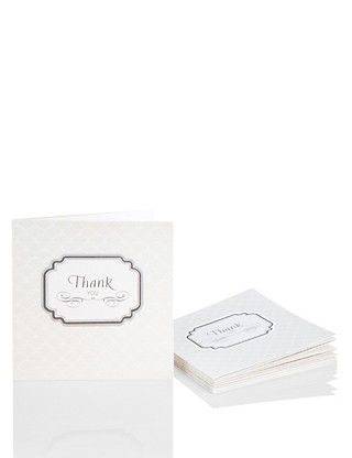 8 Luxury Wedding Thank You Multipack Cards Home