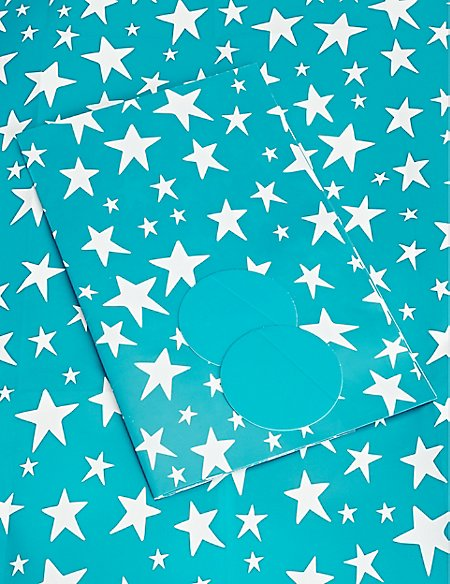 Blue Stars Sheet Wrapping Paper