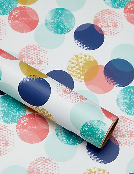 Dotted Brush Stroke 2m Wrapping Paper