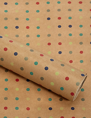 Dotty Kraft 2m Wrapping Paper Home