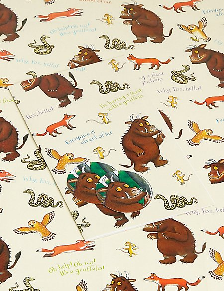 2 Gruffalo Sheet Wrap & Tags