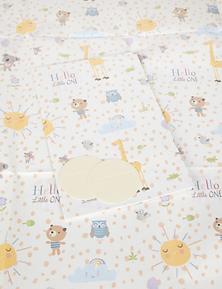 2 Cute Animals New Baby Wrapping Paper Home