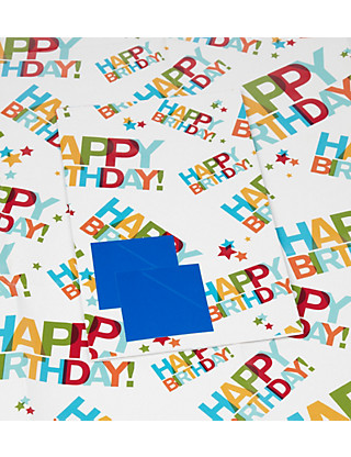 2 Bright Happy Birthday Text Wrapping Paper Home