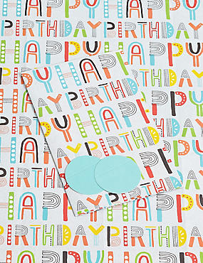Happy Birthday Colourful Sheet Wrapping Paper