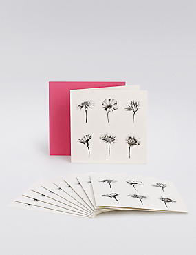 Black Floral Multipack Cards