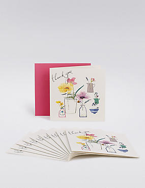 Flower Pots Thank You Cards