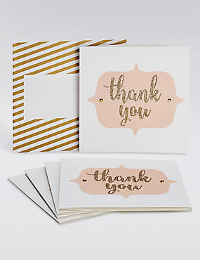 Glitter Thank You Cards