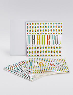 Multicoloured Thank You Cards