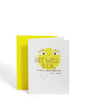 Sunshine Get Well Soon Card