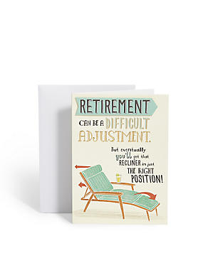 Recliner Retirement Card