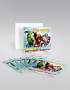 Marvel Avengers Party Invites