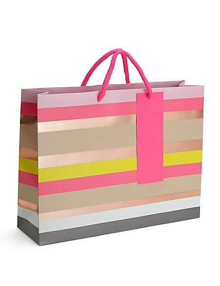 Colourful Stripes Large Gift Bag