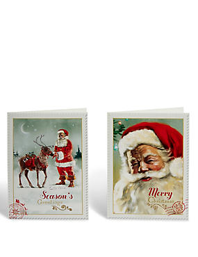 Santa Christmas Cards - Pack of 20