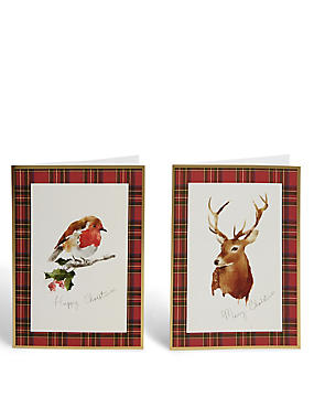 Deer & Robin Christmas Cards - Pack of 20