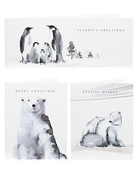 Inky Winter Scene Christmas Cards - Pack of 20