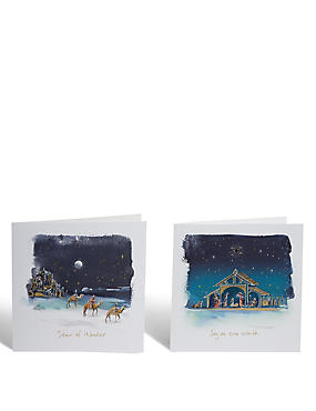 Nativity Scene Christmas Cards - Pack of 24