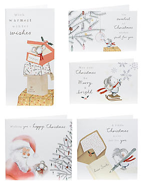 Dan's Mouse Christmas Cards - Pack of 24