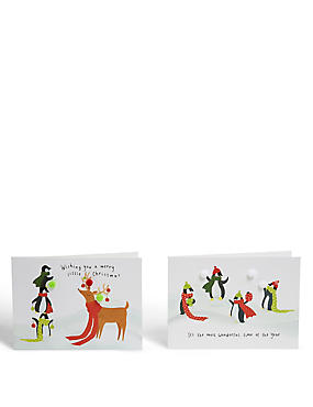Fun Penguins Christmas Cards - Pack of 8