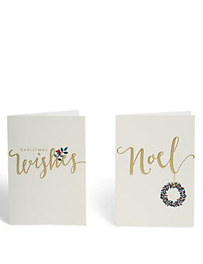 Noel Christmas Cards - Pack of 8