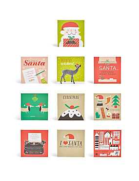 Fun Illustrations Christmas Charity Cards - Pack of 30