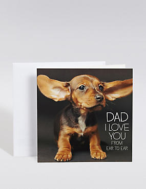 Cute Dog Father's Day Card