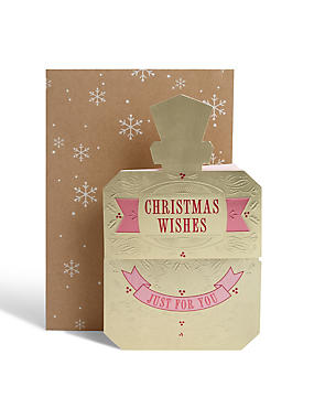 3D Perfume Bottle Christmas Card