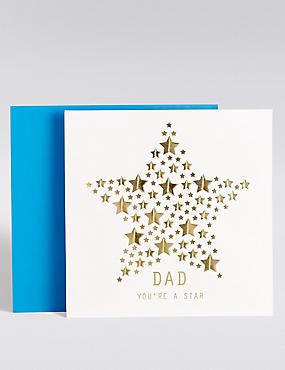 Star Die Cut Father's Day Card