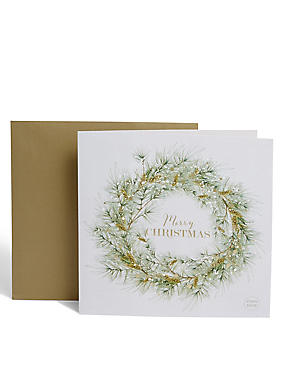 Light Up Wreath Christmas Card