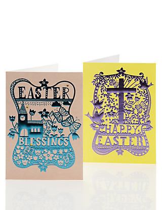 Contemporary Foil Finish Multipack Easter Cards Home