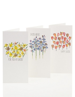 Classic Flowers Multipack Easter Cards Home