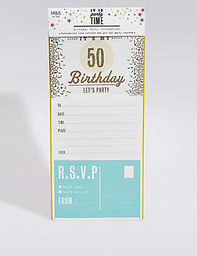 6 Personalisable Birthday Invitations