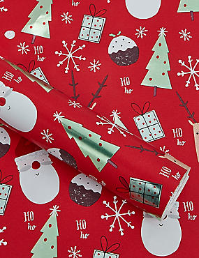 Fun Festive Illustrations 3m Christmas Wrapping Paper