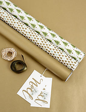 Spruce Gold Christmas Wrap Pack