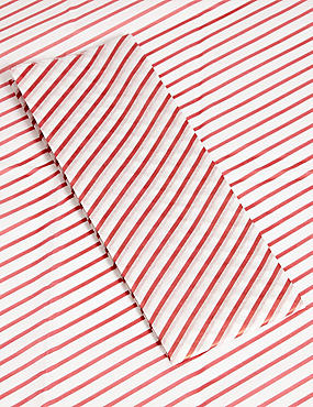 Joyeux Noel Red & White Stripe Tissue Paper